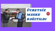 Zabıta Ekipleri pazarlarda maske dağıttılar