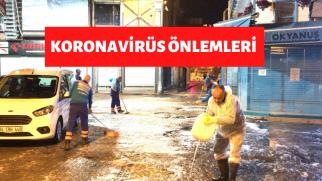 ÜSKÜDAR SOKAKLARI DEZENFEKTE EDİLİYOR