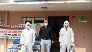 Kartal'da Dezenfekte Çalışması Devam Ediyor