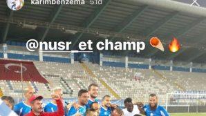 Benzema'dan BB Erzurumspor Paylaşımı