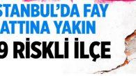 İstanbul Risk Haritasındaki birinci derece 80 ilçe risk altında!