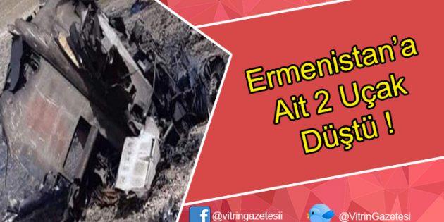 Ermenistan'a ait 2 uçak dağa çarparak düştü