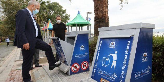 Gebze'de yer altı konteynır uygulamaları sürüyor