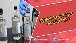 RESMİ GAZETE'DE YAYIMLANDI