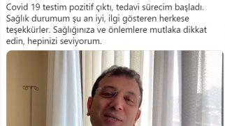 İBB Başkanı İmamoğlu koronavirüse yakalandı