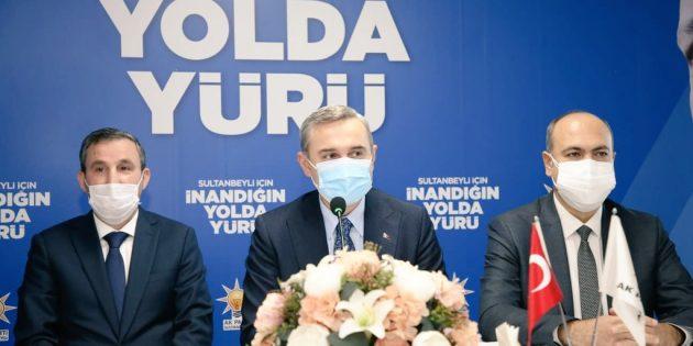 Bayram Şenoacak'dan ,Sultanbeyli İlçe Teşkilatına Ziyaret