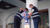 Sultanbeyli'de Camilere Yeni Dezenfektanlar Yerleştirildi