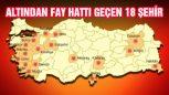 Türkiye'de Altından Fay Hattı Geçmekte Olan 18 Şehir Açıklandı