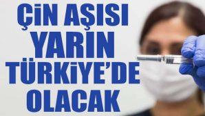 Çin Aşısı Yarın Türkiye'de