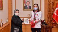 Tekvando'nun Altın Kızından Başkan Döğücü'ye Ziyaret