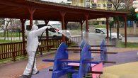Tuzla'da Bulunan 136 Park Çocuklar İçin Dezenfekte Ediliyor
