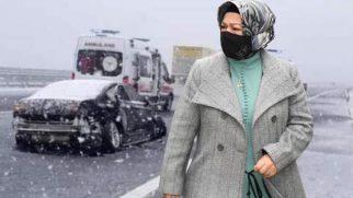 Sancaktepe Belediye Başkanı Şeyma Döğücü, kongre dönüşü kaza geçirdi
