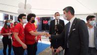 Başkan Gökhan Yüksel'den Burak Bora Anadolu Lisesi öğrencilerinin kan bağışı kampanyasına destek