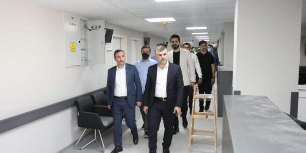 Başkan Keskin ve Tombaş Yeni Diş Hastanesi'ni inceledi