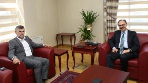 Başkan Keskin'den Kaymakam Kemal Kızılkaya'ya Hayırlı Olsun Ziyareti
